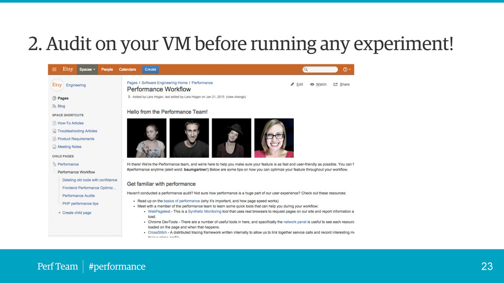 Perf Team #performance 2. Audit on your VM befo...