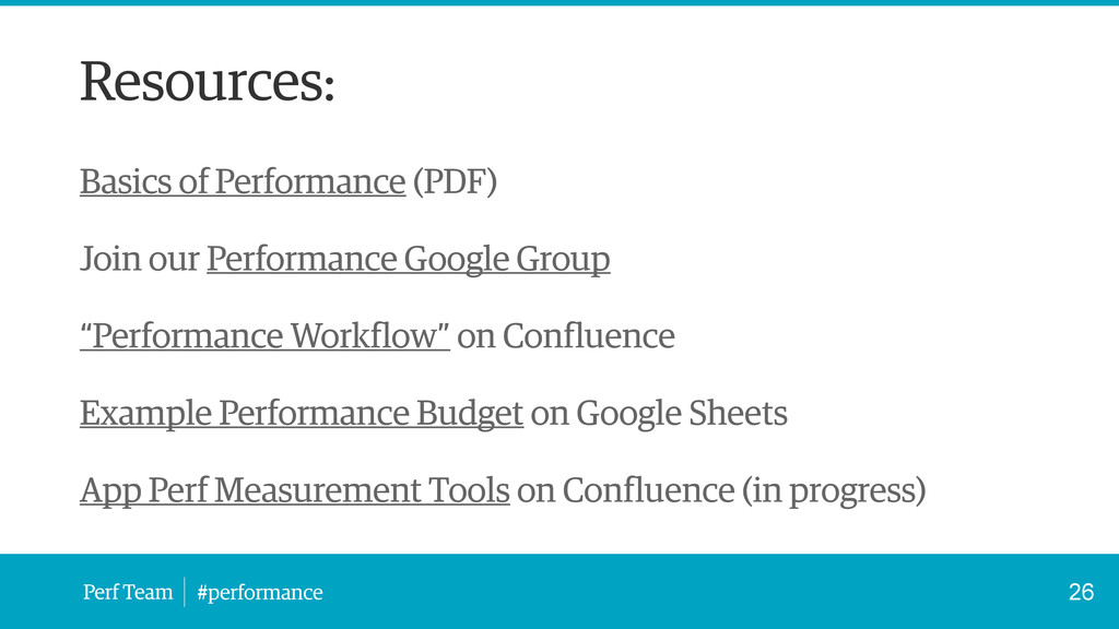 Perf Team #performance Resources: Basics of Per...