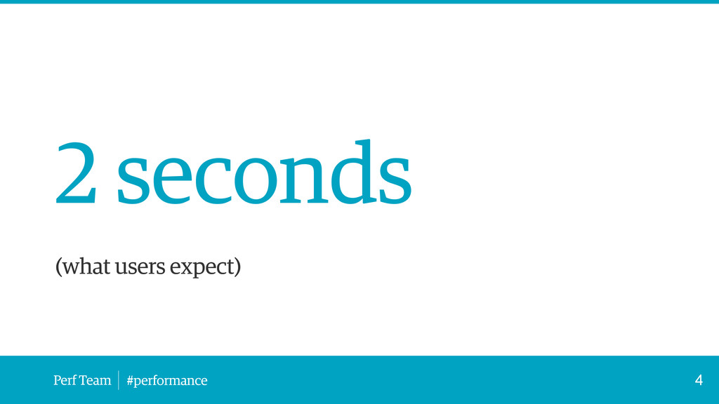 Perf Team #performance 2 seconds ! (what users ...