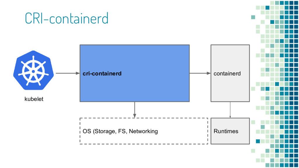 CRI-containerd containerd OS (Storage, FS, Netw...