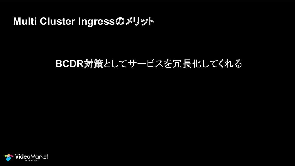 Multi Cluster Ingressのメリット BCDR対策としてサービスを冗長化してく...