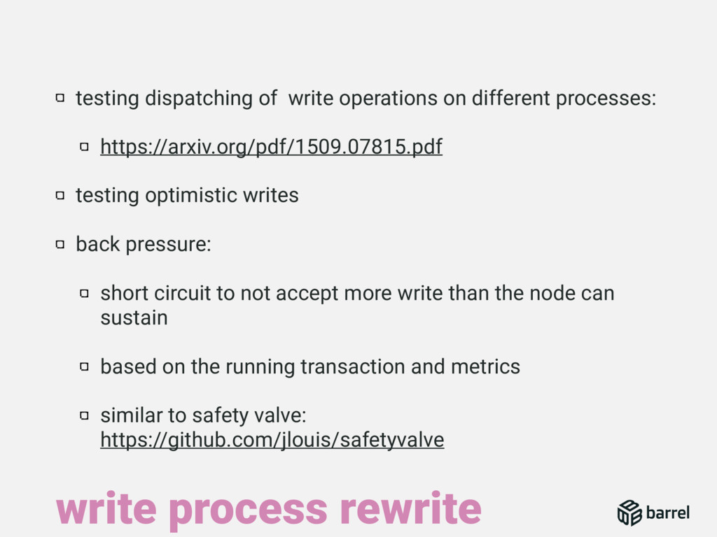 testing dispatching of write operations on diff...