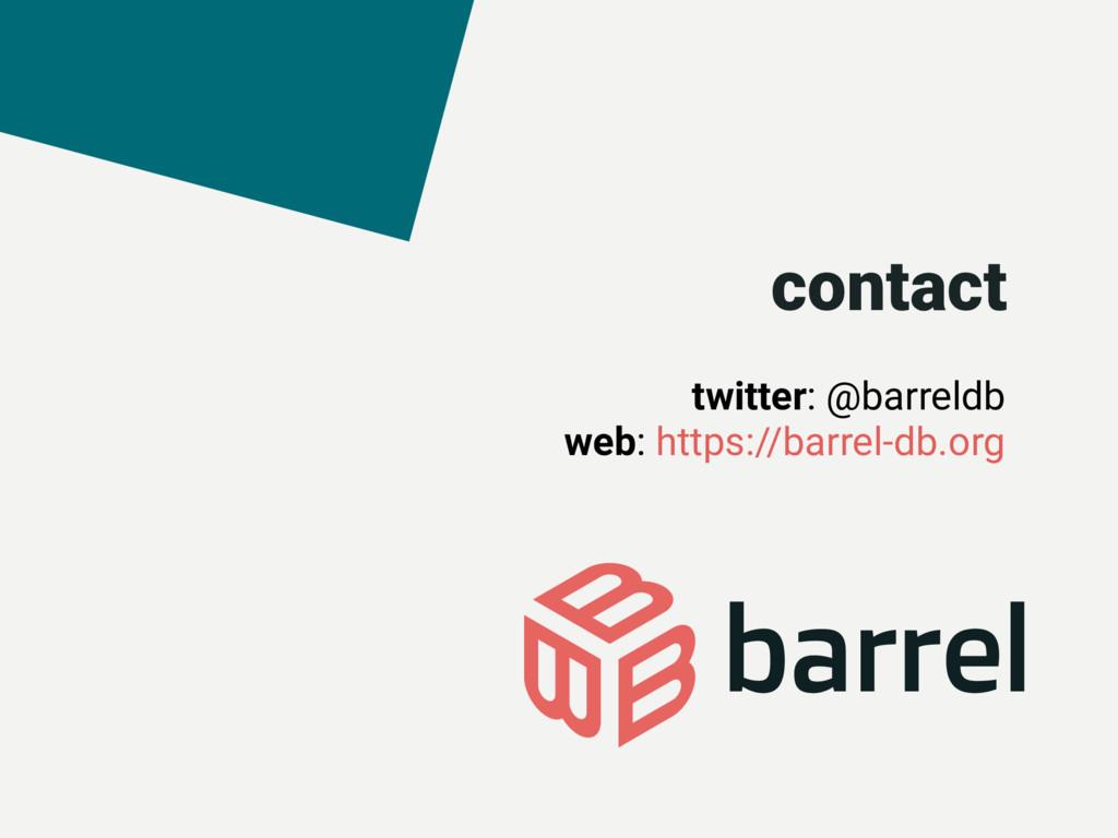 twitter: @barreldb web: https://barrel-db.org c...
