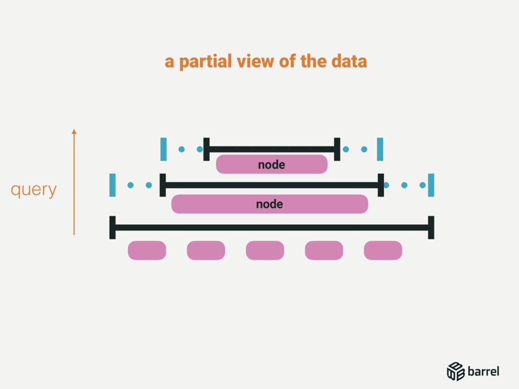 query a partial view of the data node node