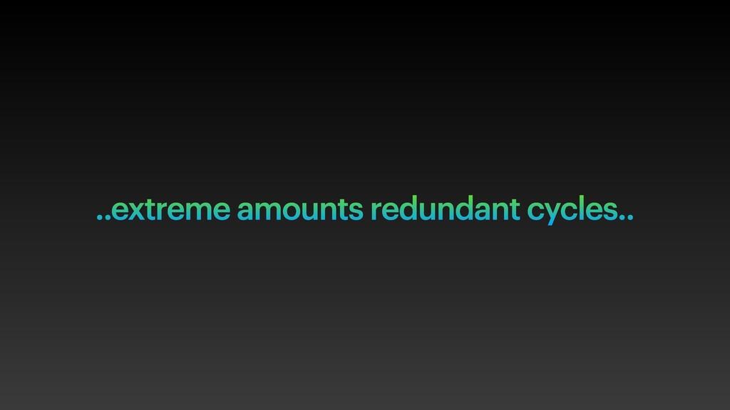 ..extreme amounts redundant cycles..