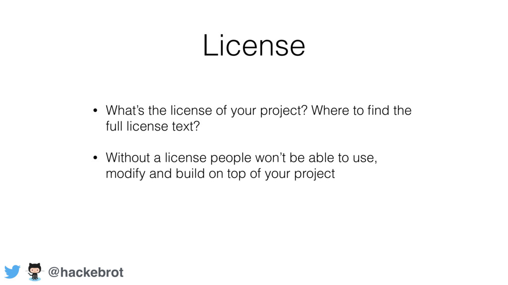 License • What's the license of your project? W...
