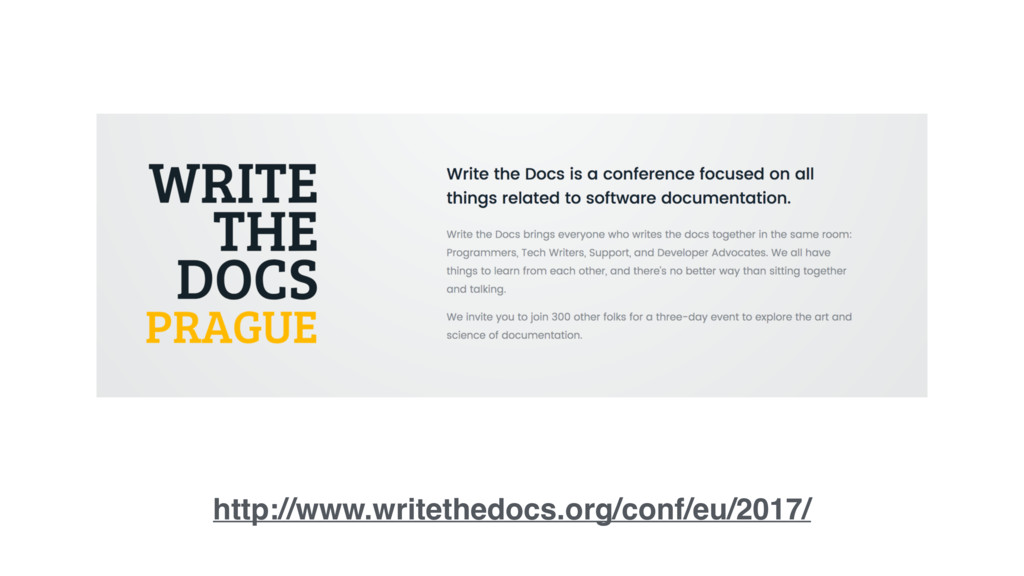 http://www.writethedocs.org/conf/eu/2017/