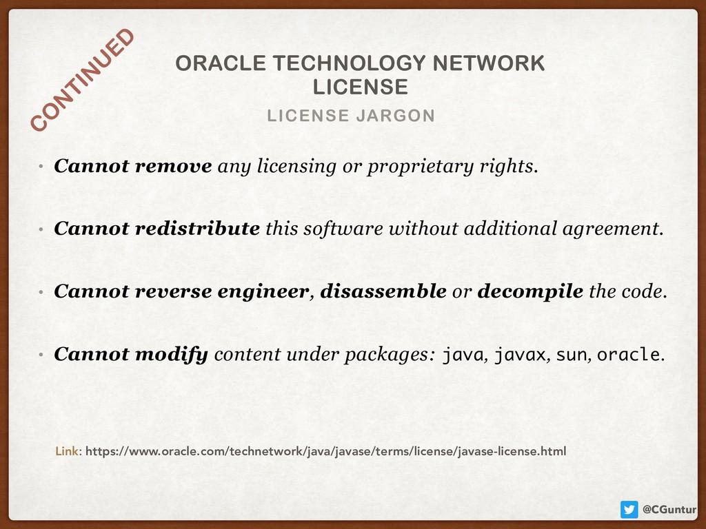 @CGuntur LICENSE JARGON ORACLE TECHNOLOGY NETWO...