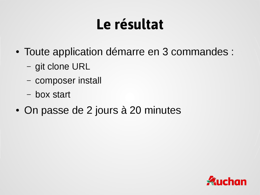 Le résultat ● Toute application démarre en 3 co...