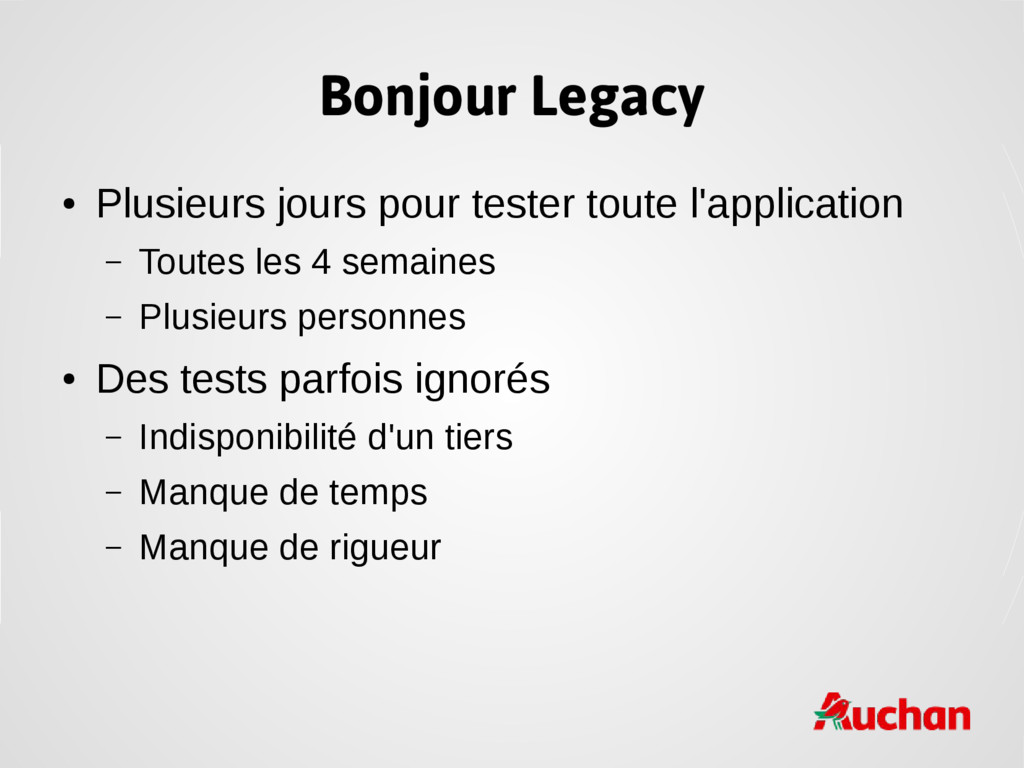 Bonjour Legacy ● Plusieurs jours pour tester to...