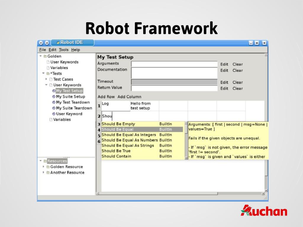 Robot Framework