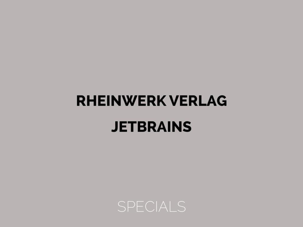 RHEINWERK VERLAG JETBRAINS SPECIALS