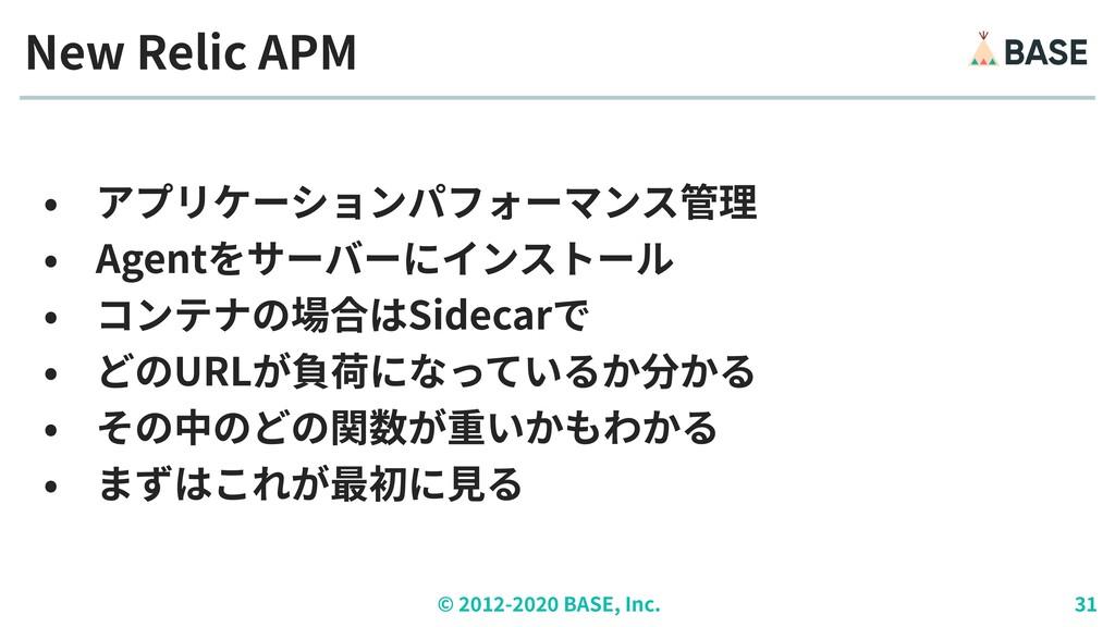 © ︎ 2 0 1 2 - 2 0 2 0 BASE, Inc. 3 1 • アプリケーション...