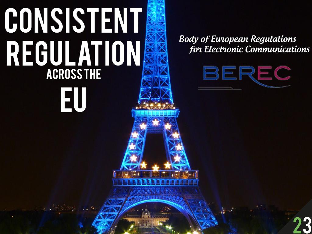 Consistent Regulation across the EU Body of Eur...