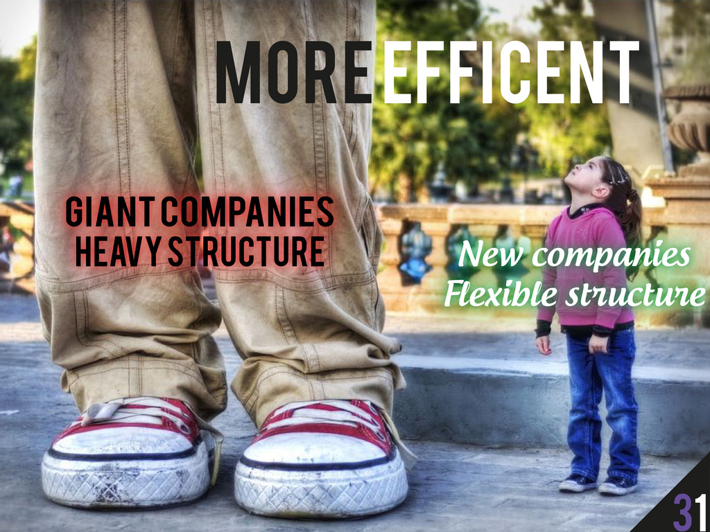 More Efficent Giant Companies Heavy structure N...