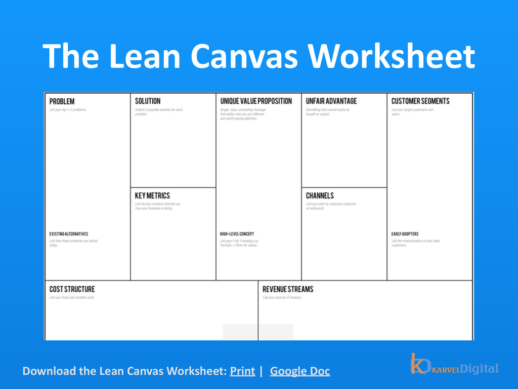 The Lean Canvas Worksheet Download ...