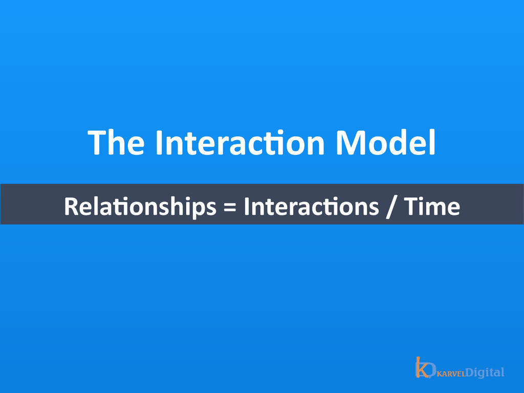The InteracOon Model RelaOonships = ...
