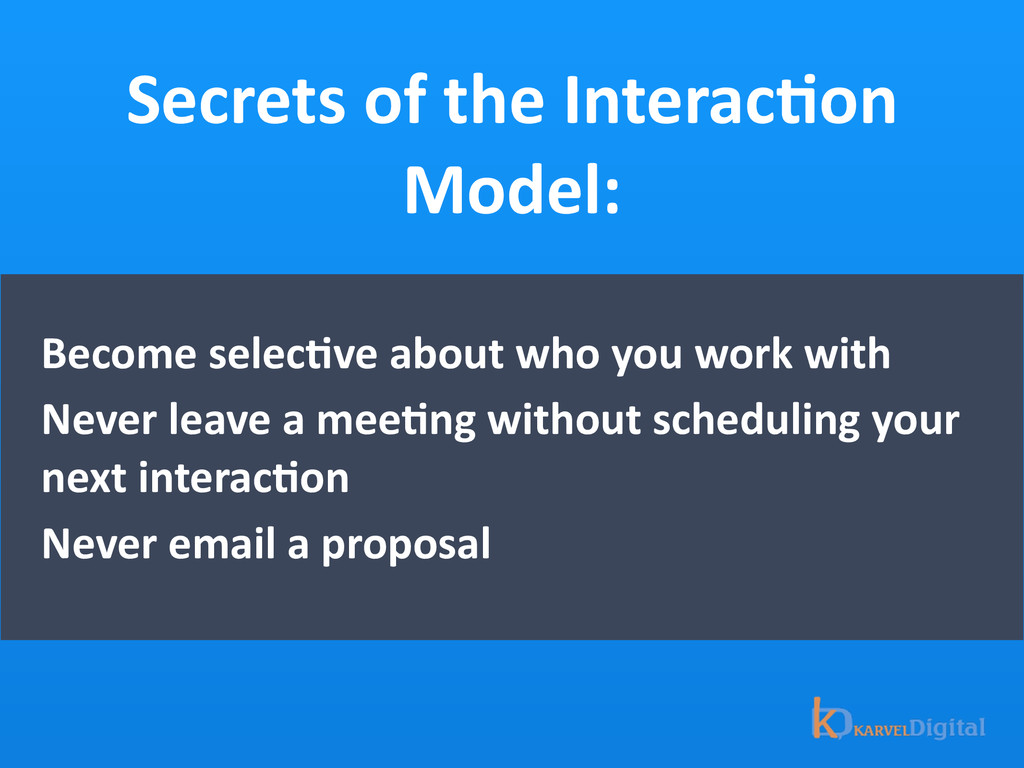 Secrets of the InteracOon  Model: B...