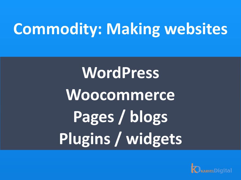Commodity: Making websites WordPress  ...