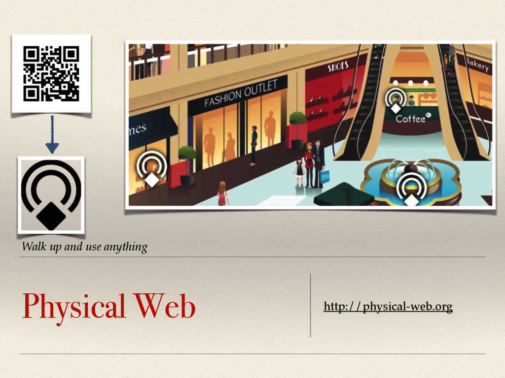 Walk up and use anything Physical Web http://ph...