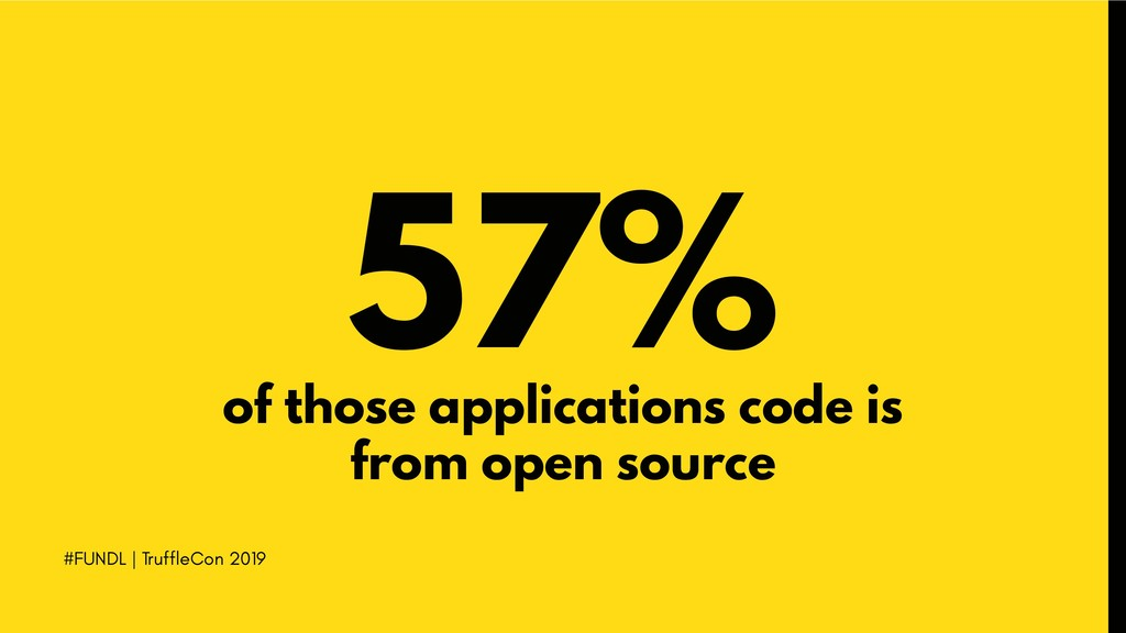 #FUNDL | TruffleCon 2019 57% of those applicati...