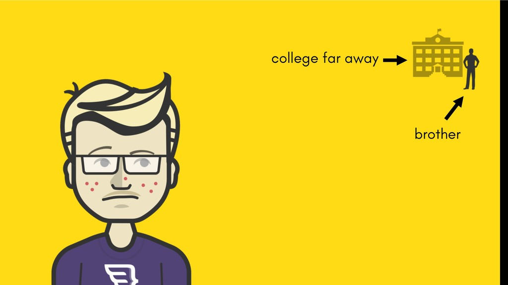 brother college far away