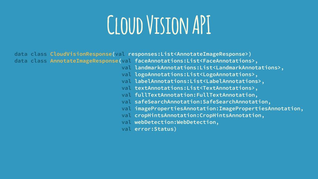 Cloud Vision API data class CloudVisionResponse...