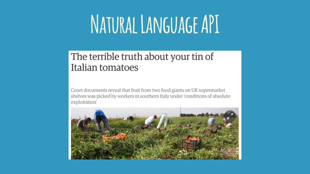Natural Language API