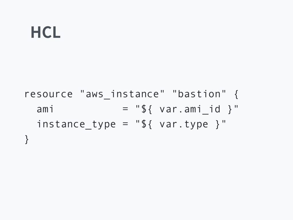 ")$- resource ""aws_instance"" ""bastion"" { ami = ""..."