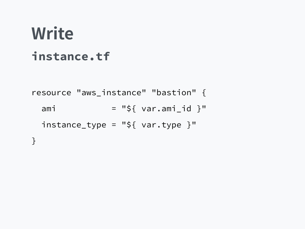 "8SJUF resource ""aws_instance"" ""bastion"" { ami =..."