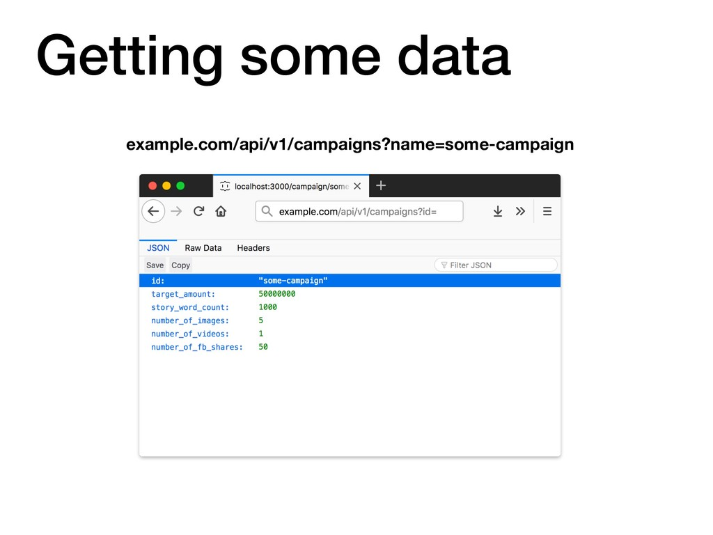 Getting some data example.com/api/v1/campaigns?...