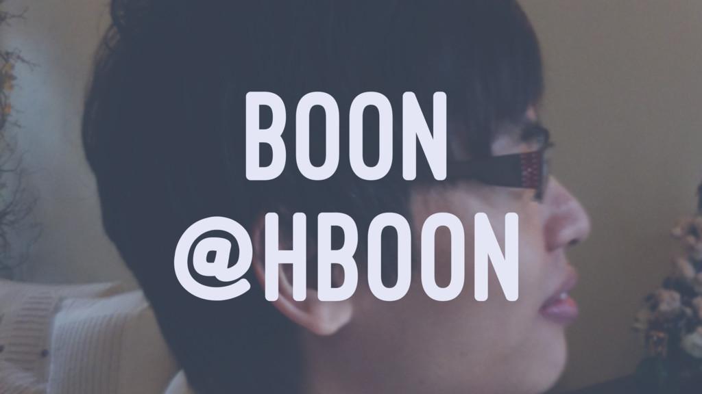 BOON @HBOON