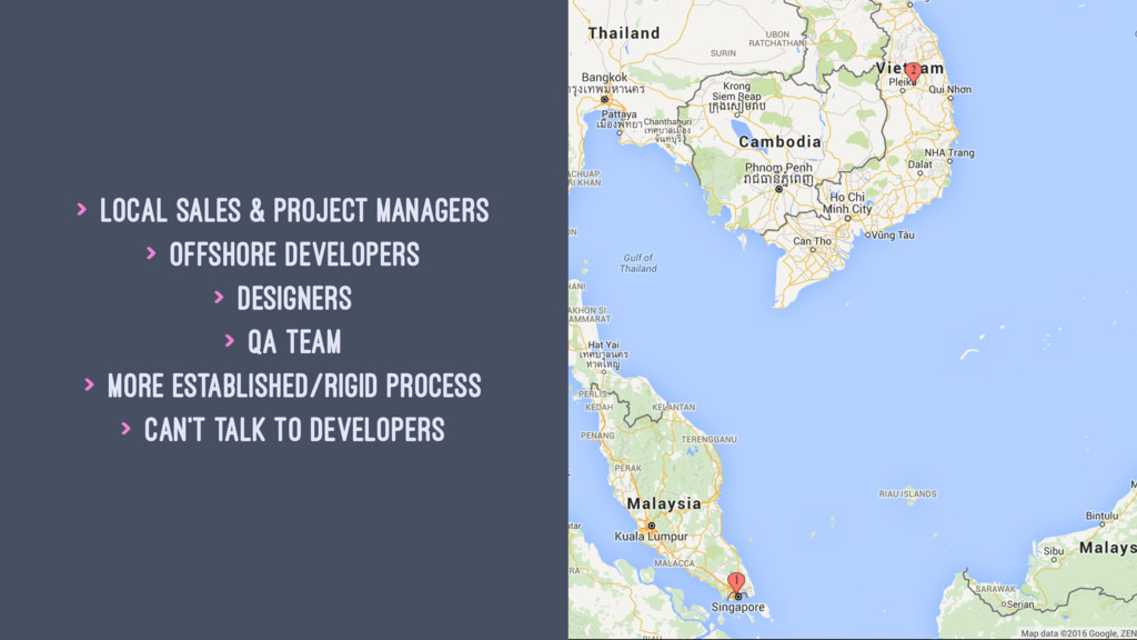 > Local sales & project managers > Offshore dev...