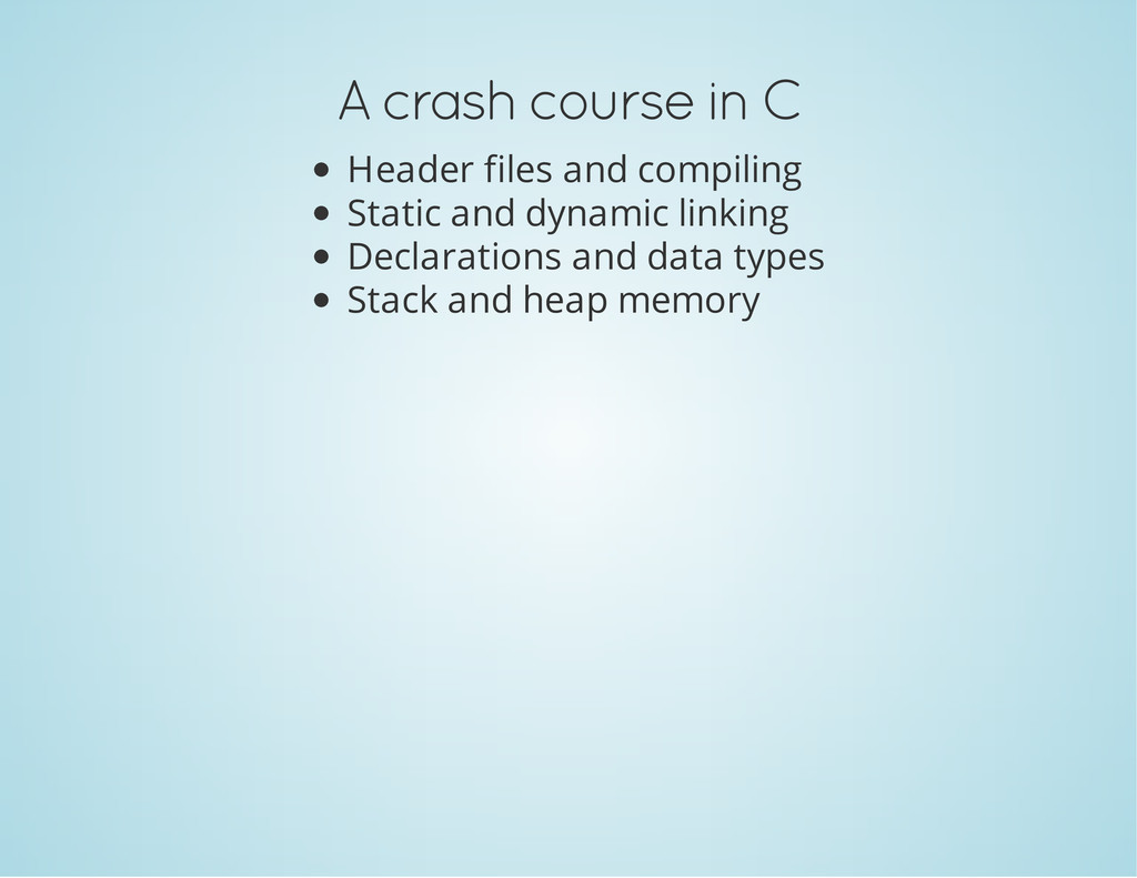 A crash course in C Header files and compiling ...