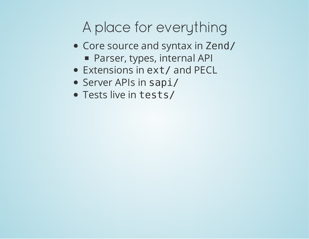 A place for everything Core source and syntax i...