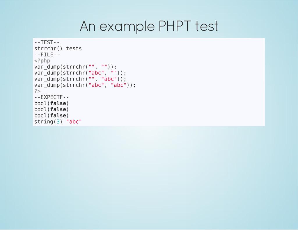 An example PHPT test - - T E S T - - s t r r c ...