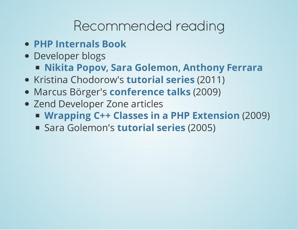 Recommended reading Developer blogs , , Kristin...