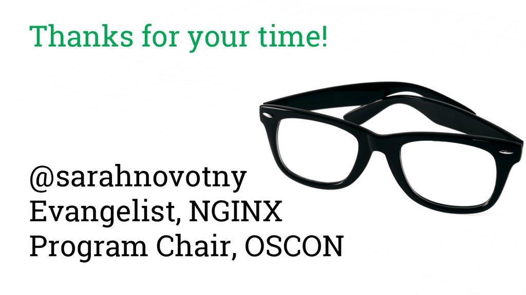 Thanks for your time! @sarahnovotny Evangelist,...