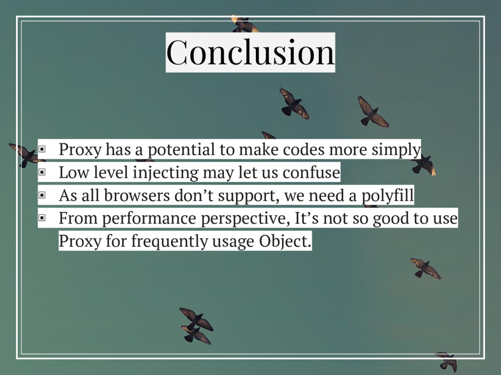 ▣ Proxy has a potential to make codes more simp...