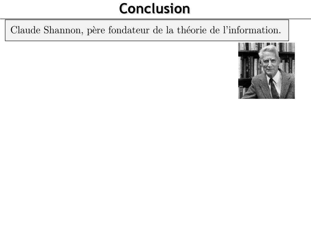 Conclusion http://mapage.noos.fr/fholvoet/shann...