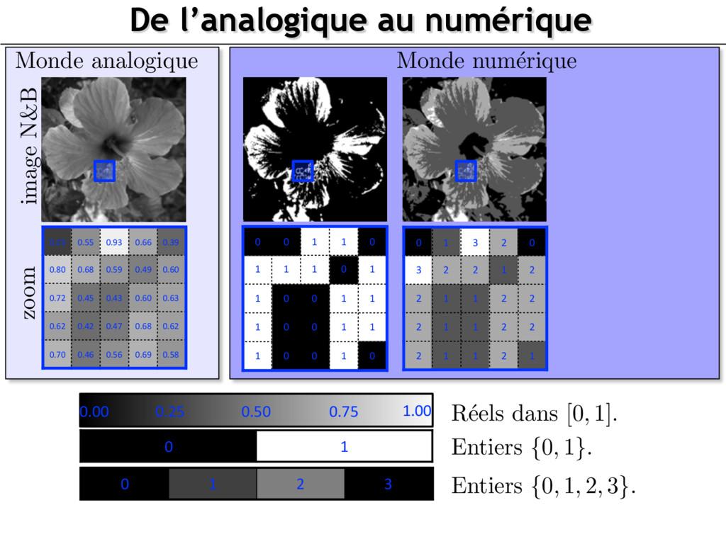 Monde num´ erique image N&B Monde analogique De...