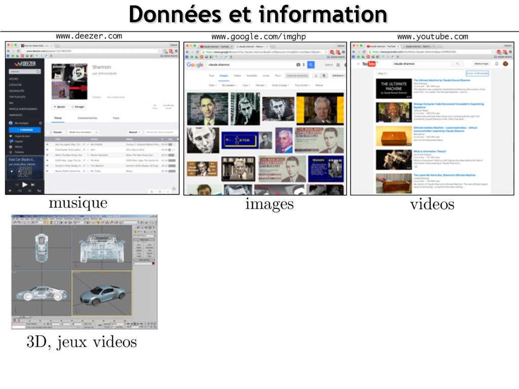 Données et information 3D, jeux videos www.goog...