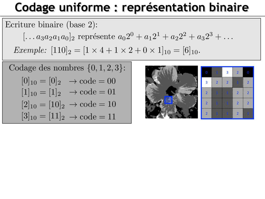 Codage uniforme : représentation binaire Ecritu...