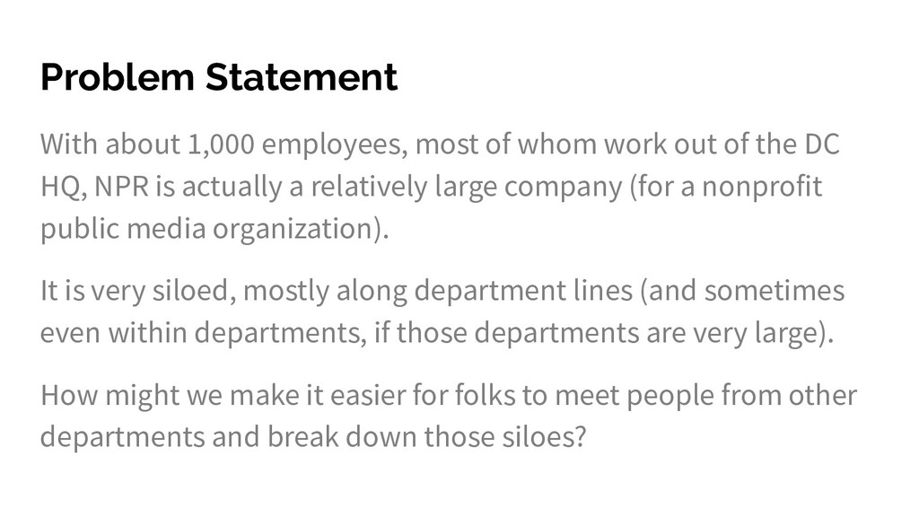 Problem Statement With about 1,000 employees, m...