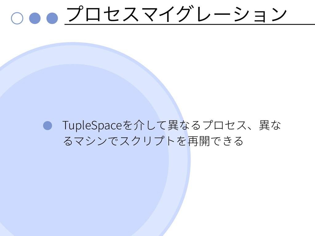 ϓϩηεϚΠάϨʔγϣϯ TupleSpace