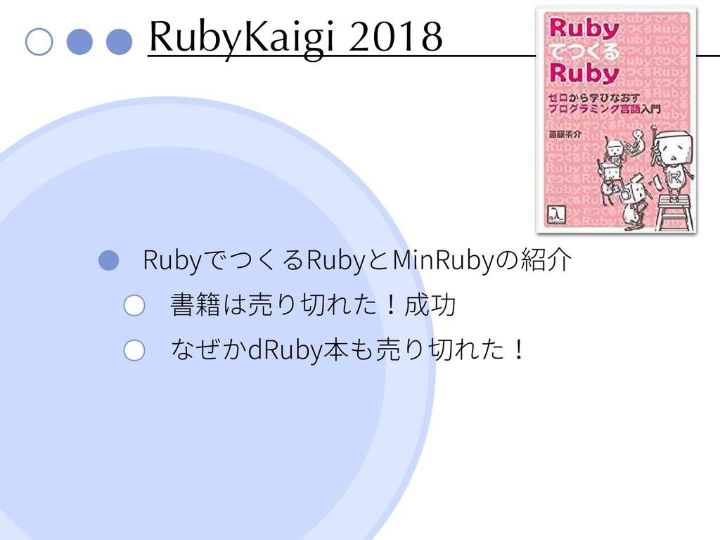 RubyKaigi 2018 Ruby Ruby MinRuby dRuby