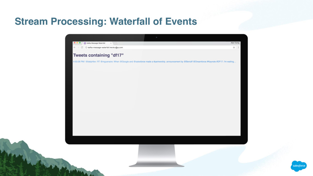 Stream Processing: Waterfall of Events