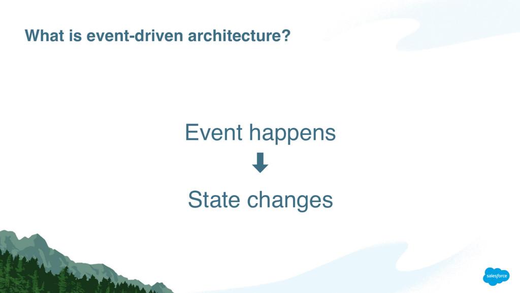 What is event-driven architecture? Event happen...