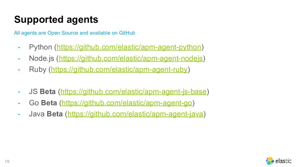 !19 Supported agents - Python (https://github.c...