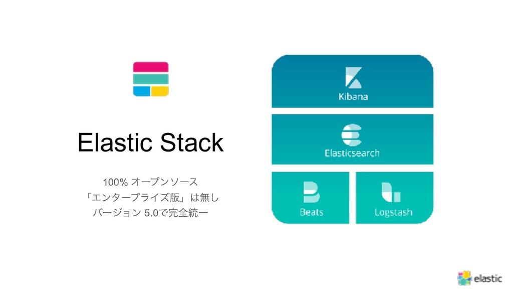 5 Elastic Stack 100% Φʔϓϯιʔε ʮΤϯλʔϓϥΠζ൛ʯແ͠ όʔδ...